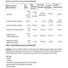 SaltStick Fastchews Chewable Tablets 10 Pieces, with salt and minerals/lemon